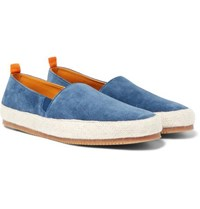 Shearling-lined Suede Slippers - Storm blueMulo mHCa3A