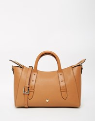 Modalu Leather Mini East West Tote Bag Tan