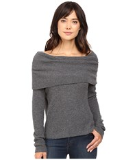 Lamade Amalia Cowl Charcoal Women's Long Sleeve Pullover Gray