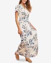 Motherhood Maternity Nursing Maxi Dress Pink Floral