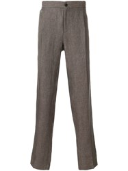 Salvatore Ferragamo Classic Trousers Brown