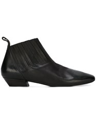 Marsell Low Heel Ankle Boots Black