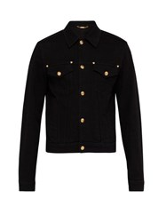 Versace Medusa Button Denim Jacket Black
