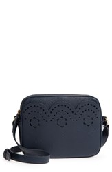 Draper James Scallop Faux Leather Camera Bag Blue Nassau Navy