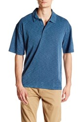 Burma Bibas Short Sleeve Slub Polo Blue