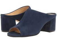 Ivanka Trump Evia Dark Blue Suede Women's Sandals