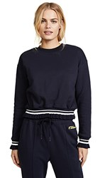 Evidnt Ruffle Trim Sweatshirt Navy