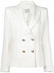 Balmain Pierre Double Breasted Blazer White