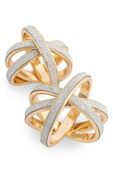 Women's Topshop Twisted Glitter Paper Rings Set Of 2
