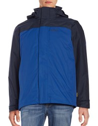 Jack Wolfskin Hooded 3 In1 Jacket Deep Sea