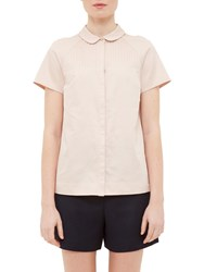 Ted Baker Colour By Numbers Primi Pintuck Detail Shirt Nude Pink