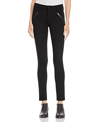 Aqua Quilted Moto Legging Pants Black