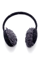 Muk Luks Solid Sprinkled Faux Fur Lined Earmuffs Black