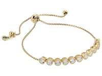 Betsey Johnson Blue By Chain Bracelet With Cubic Zirconia Stones And Adjustable Slider Crystal 1 Bracelet Tan
