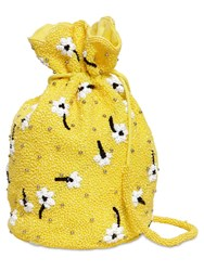 Ganni Beads And Sequins Embellished Bag Yellow