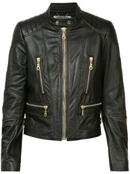 Kenzo Biker Jacket Women Leather Viscose Bos Taurus 36 Black