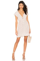 Auguste X Revolve Jasmine Petal Cutaway Mini Dress White