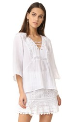 Bb Dakota Jack By Geoff Lace Up Top Bright White