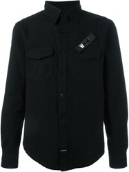 Les Artists Les Art Ists 'Wang' Patch Shirt Black