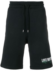Love Moschino Embroidered Detail Shorts Black