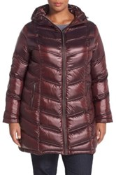Calvin Klein Packable Down Coat Plus Size Red