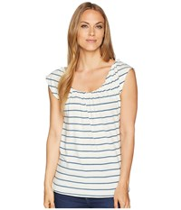 Carve Designs Sanibel Tee Indigo Sun Stripe T Shirt White