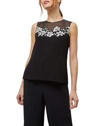 Jaeger Lace Panel Top Black