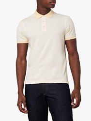 Jaeger Birdseye Cotton Polo Shirt Lemon