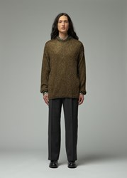Our Legacy Sonar Roundneck Sweater Glitter Olive