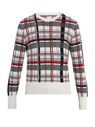 Moncler Gamme Bleu Checked Cashmere Sweater Multi