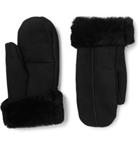 Dents Inverness Shearling Mittens Black