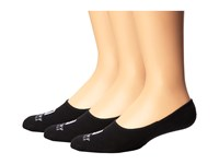 Sperry Solid Half Cushion Canoe Black Men's No Show Socks Shoes