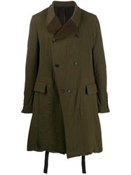 Masnada Flared Double Breasted Coat Green