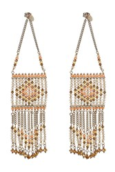Valentino Bead Embellished Earrings Multicolor