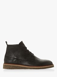 Bertie Calgary Grain Wedge Desert Boots Black