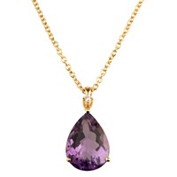 Emily Mortimer Jewellery Aqua Amethyst And Diamond Necklace Gold Pink Purple