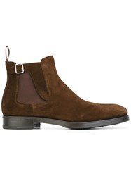 Henderson Baracco Buckle Detailing Chelsea Boots Brown