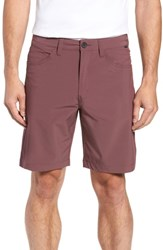 Travis Mathew Seatac Regular Fit Stretch Shorts Eggplant