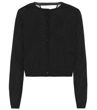Red Valentino Wool And Silk Cashmere Sweater Black