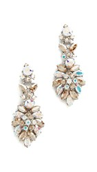 Ben Amun Iridescent Cluster Chandelier Earrings Multi