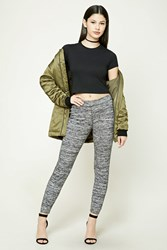 Forever 21 Marled Knit Pants Charcoal