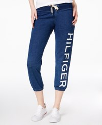 Tommy Hilfiger Sport Cotton Cropped Logo Sweatpants A Macy's Exclusive Dark Indigo