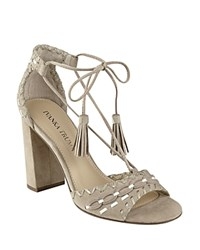 Ivanka Trump Karita Lace Up High Heel Sandals Light Natural
