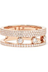 Messika Move Romane 18 Karat Rose Gold Diamond Ring