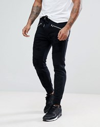 Diesel P Westin Distressed Joggers In Black Black