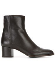 Veronique Branquinho Side Zip Boots Brown