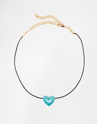 Gogo Philip Choker Necklace Turquoise