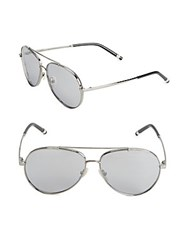 Boucheron 58Mm Aviator Sunglasses Ruthenium