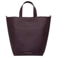 French Connection Vero Tote Bag Burgundy