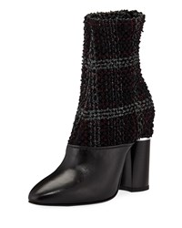 3.1 Phillip Lim Plaid Boucle Stretch 105Mm Ankle Booties Multi Pattern
